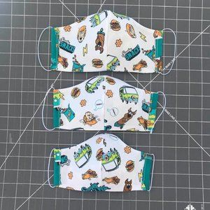 Scooby Doo Face Mask Handmade Cotton Reversible